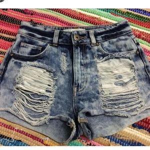 Pacsun bullhead mom shorts | Size 0 |